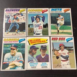 1977 Topps Baseball Cards Lot of 50 *6 HOFs + more